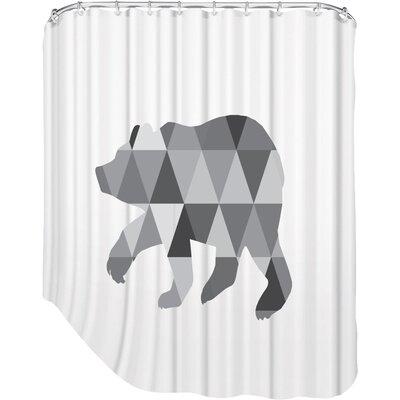 Melinda Wood Bear Shower Curtain Color: Grey
