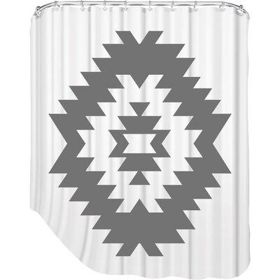 Melinda Wood Southwestern Shower Curtain Color: Black