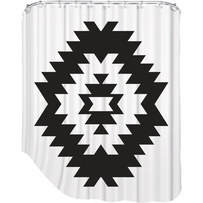 Melinda Wood Southwestern Shower Curtain Color: Grey