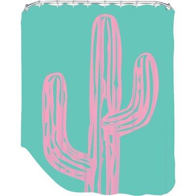 Ashlee Rae Cactus Shower Curtain