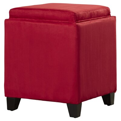 Nicholson Cube Storage Ottoman Upholstery: Red