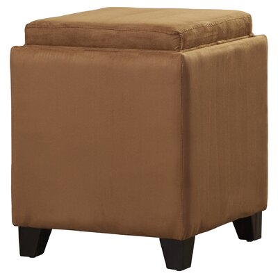 Nicholson Cube Storage Ottoman Upholstery: Brown