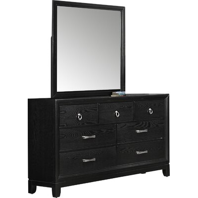 Simmons Casegoods Hosking 7 Drawer Dresser with Mirror by Simmons Casegoods