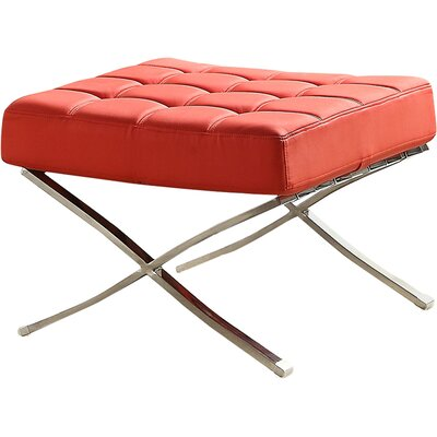 Collier Ottoman Upholstery: Red