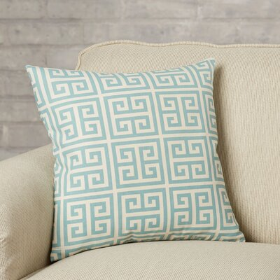 Blevins 100% Cotton Throw Pillow Color: Blue, Size: 22 x 22