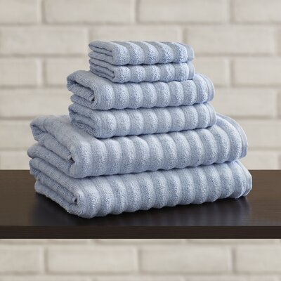 Bishopsworth 6 Piece Towel Set Color: Spa Blue