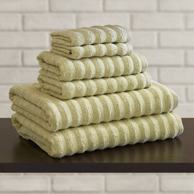 Bishopsworth 6 Piece Towel Set Color: Sage
