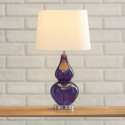 Phelps 27 Table Lamp with Empire Shade Finish: Violet Glass