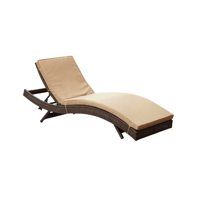 Ludwick Chaise Lounge with Cushion Fabric: Mocha