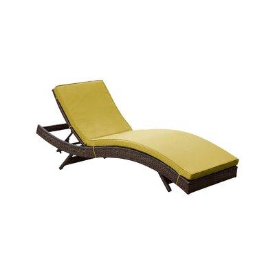 Ludwick Chaise Lounge with Cushion Fabric: Peridot