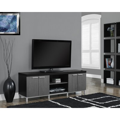 Orrell 60 TV Stand Color: Black/Gray