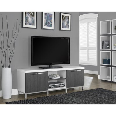 Orrell TV Stand Finish: White/Gray