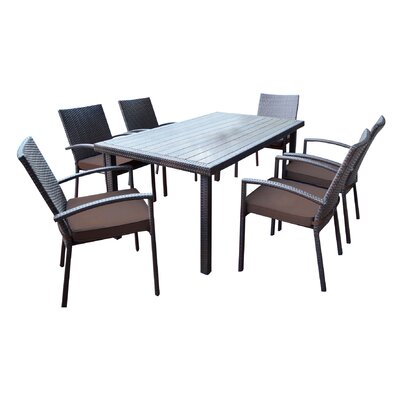 Shull 7 Piece Dining Set with Cushions