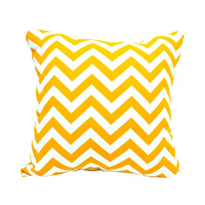 Mosby Zig Zag Throw Pillow Color: Yellow