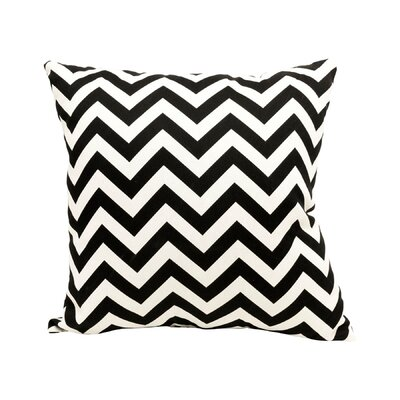 Mosby Zig Zag Throw Pillow Color: Black