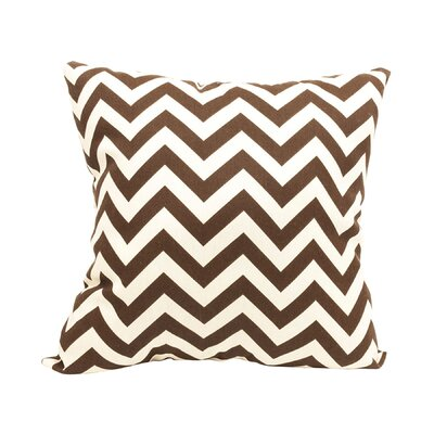 Mosby Zig Zag Throw Pillow Color: Chocolate
