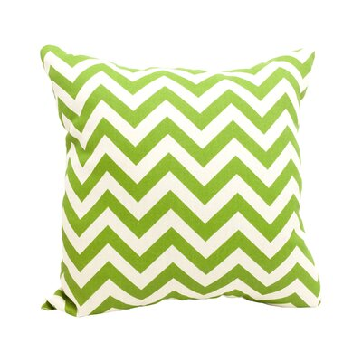 Mosby Zig Zag Throw Pillow Color: Sage