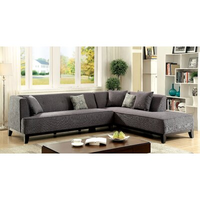 Shanahan Sectional Upholstery: Gray