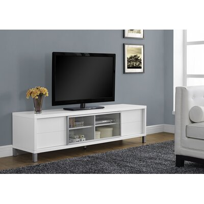 Encinas 71 TV Stand Color: White