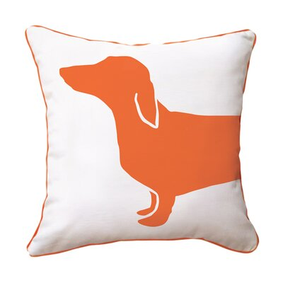 Lacluta Happy Cotton Throw Pillow Color: Orange / White