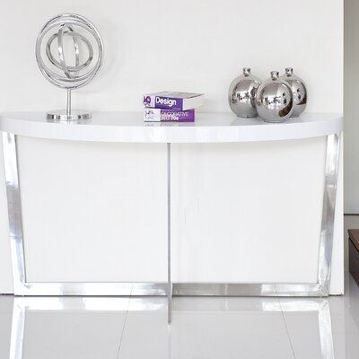 Coyer Console Table Finish: White
