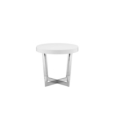 Coyer End Table Finish: White