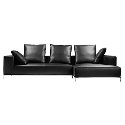 Lakehurst Sectional Upholstery: Black, Orientation: Right Hand Facing