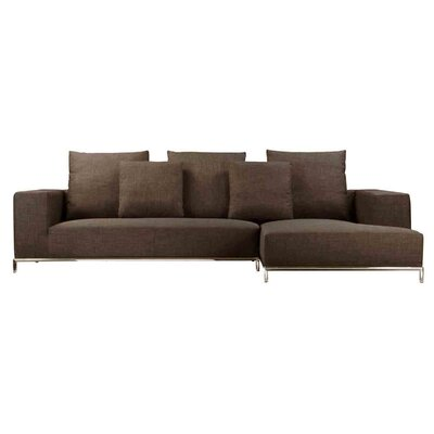 Lakehurst Sectional Upholstery: Brown, Orientation: Right Hand Facing