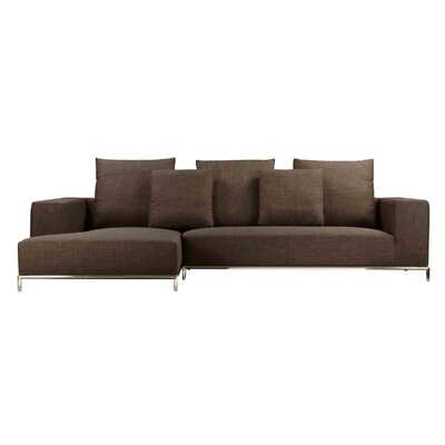 Lakehurst Sectional Upholstery: Brown, Orientation: Left Hand Facing