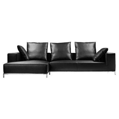 Halpin Sectional Orientation: Left Hand Facing, Upholstery: Brown