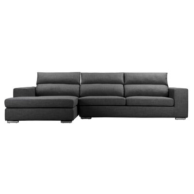 Hazelip Modular Sectional Upholstery: Charcoal, Orientation: Left Hand Facing