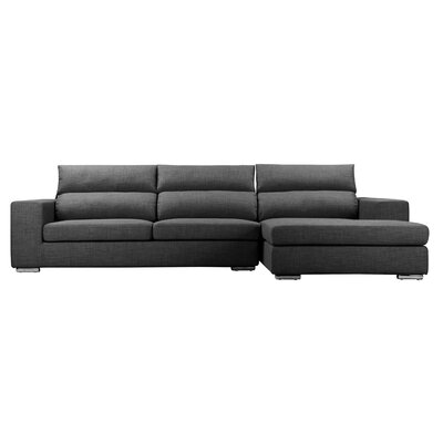 Hazelip Modular Sectional Upholstery: Charcoal, Orientation: Right Hand Facing