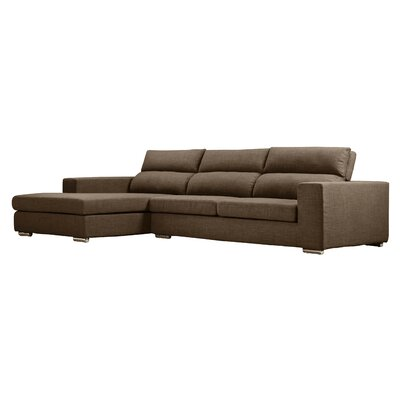 Hazelip Modular Sectional Upholstery: Brown, Orientation: Left Hand Facing