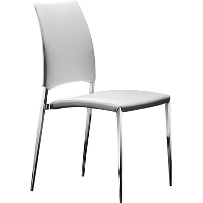 Ansley Side Chair (Set of 4) Upholstery: White