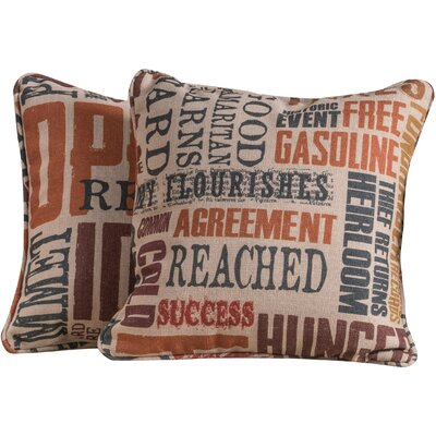 Dufour Throw Pillow Color: News Flash