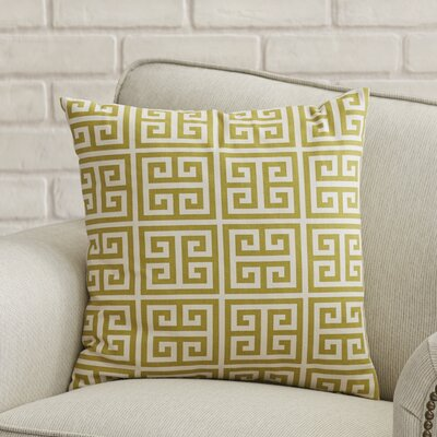 Blevins 100% Cotton Throw Pillow Color: Village Green Natural, Size: 18 H x 18 W