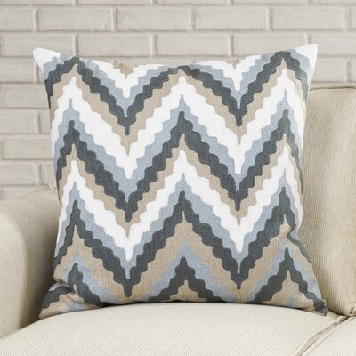 Stallworth Cotton Throw Pillow Size: 18 H x 18 W x 4 D, Color: Ink / Desert Sand / Dusk Blue / Papyrus, Filler: Polyester
