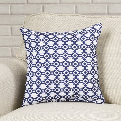Carignan Throw Pillow Size: 16 H x 16 W, Color: Spring Navy