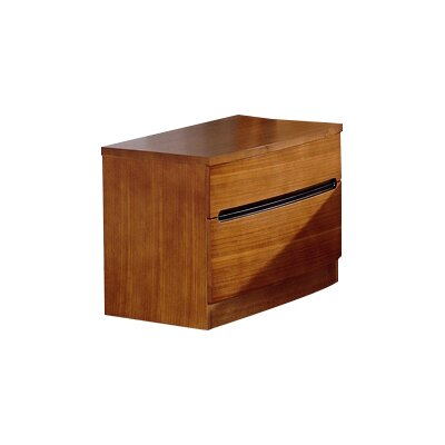 Weisinger 2 Drawer Nightstand Finish: Teak