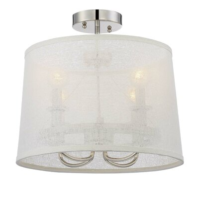Duley 4-Light LED Semi-Flush Mount