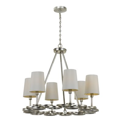 Templeman 6-Light Shaded Chandelier