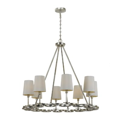 Templeman 8-Light Shaded Chandelier