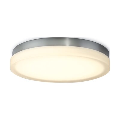 Clack 1-Light Flush Mount Finish: Chrome