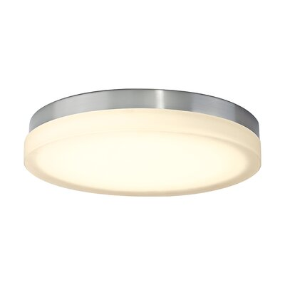 Clack 1-Light Flush Mount Finish: Brushed Nickel