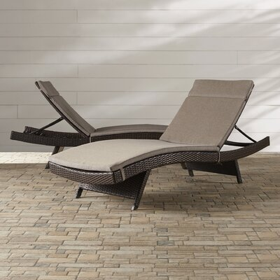 Ferrara Chaise Lounge with Cushion Color: Charcoal