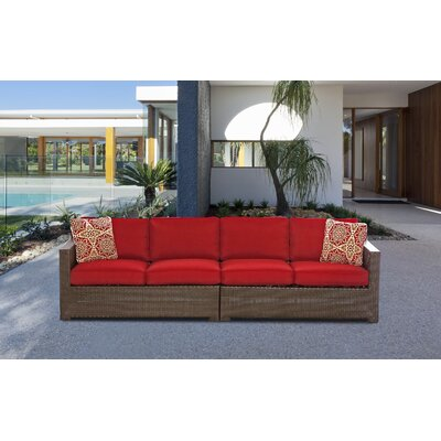 Abraham 2-Piece Loveseat Seating Group with Cushion Color: Autumn Berry
