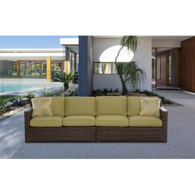 Abraham 2-Piece Loveseat Seating Group with Cushion Color: Avocado Green