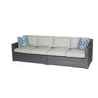 Abraham 2 Piece Loveseat Seating Group with Cushions Fabric: Silver Lining