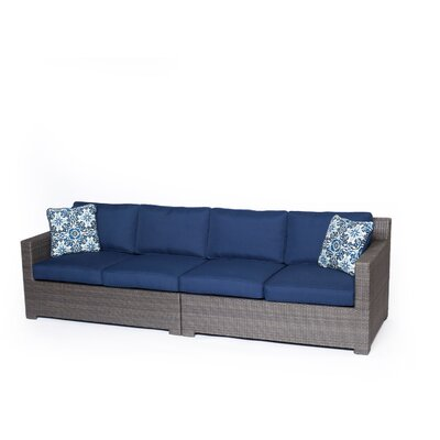 Abraham 2 Piece Loveseat Seating Group with Cushions Fabric: Navy Blue