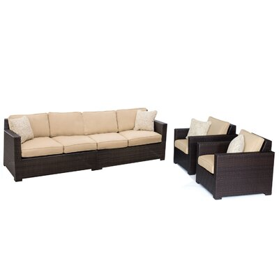 Abraham 4 Piece Deep Seating Group with Cushion Color: Sahara Sand